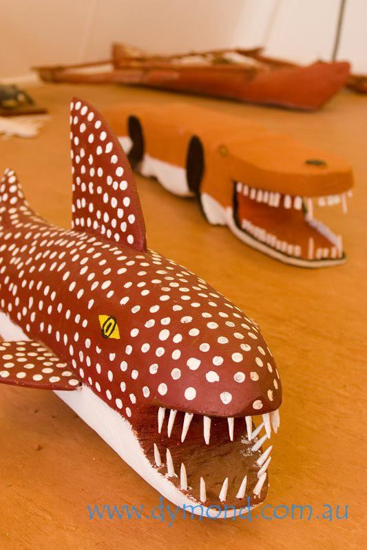 indigenous aboriginal art artwork shark wooden sculpture